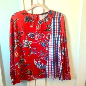 Red Blouse with several beautiful colors. By Zara